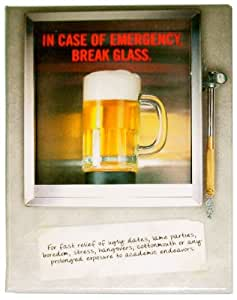In Case of Emergency Break Glass Funny Novelty Tin Sign