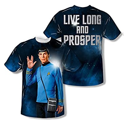 Star Trek Original Series Live Long All Over Print Front / Back T-Shirt