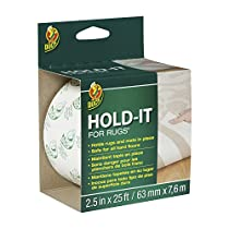 Duck Brand 519244 Hold-It Adhesive for Rugs, 2.5-Inch x 25-Feet, Single Roll