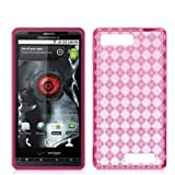 Hot Pink TPU Candy Rubber Flexi Skin Case Cover for For Motorola Droid X2 M ....