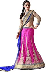 Khushi Trendz Women's Net Semi-Stitched Lehenga Choli Set_KT9194_Multicolored_Freesize