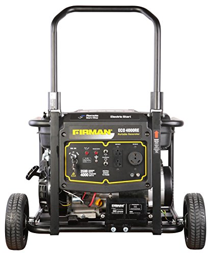 Firman Generators ECO4000RE 6.5 HP Remote Start Gas Powered Portable Generator and Wheel Kit