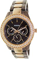 Fossil Women's ES2955 Stainless Steel Analog Brown Dial Watch from Fossil