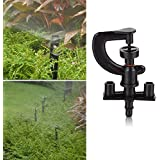 Generic New DIU# 50pcs/lot Greenhouse G Microsprinkler With Barbed Connector Micro Wheel Middle Distance Sprinkler...