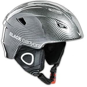 Black Canyon Kitzbühel Unisex Ski Helmet - M - 57-58cm, Carbon Fiber