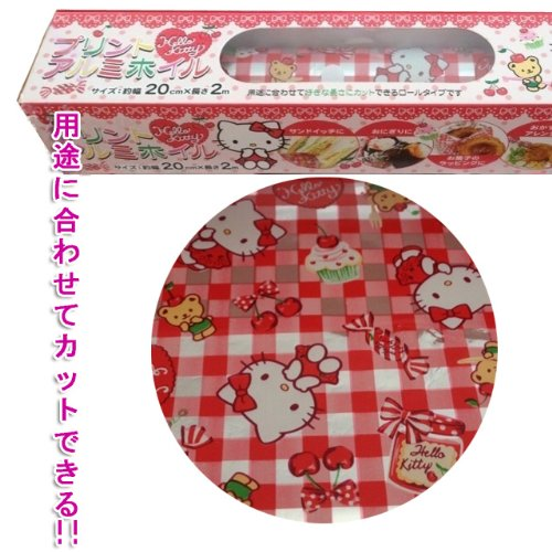 Hello Kitty Printed Aluminum Foil Paper Roll Type Blade Used 20Cm × 2M Character Cherry front-871002