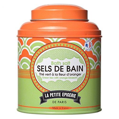 Boîte de Sels de bain Thé vert à la fleur d'oranger La petite épicerie de Paris 35-2S-802