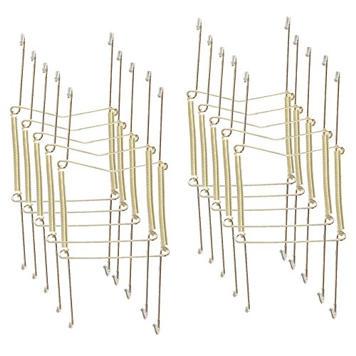 Xinlink 10 Pcs 8 Inch Medium Size Invisible Plate Wire Hanger Wall Holders with Protective Rubber Cover for 7.5