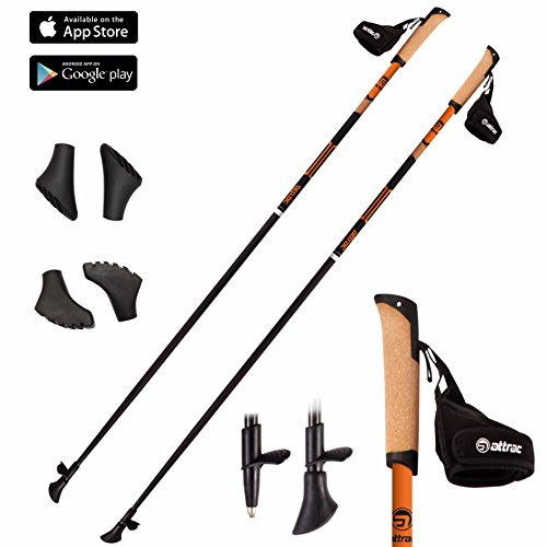Bastoncini nordic walking in carbonio 105 - 130 cm - (115 cm)