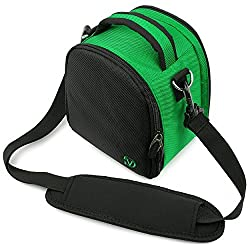VanGoddy Laurel DSLR Camera Carrying Bag with Removable Shoulder Strap for Pentax K-x Digital SLR Camera (Forest Green)