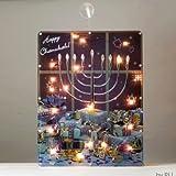 "17.5"" Lighted ""Happy Chanukah"" Hologram Window Decoration with Menorah"