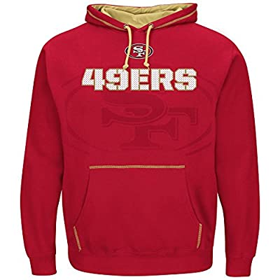 San Francisco 49ers Majestic NFL Seam Pass Pullover Hooded Sweatshirt