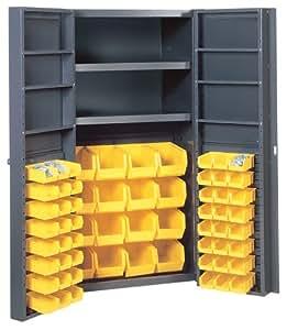 Edsal Bc6203g 38 Inch Wide By 24 Inch Deep By 72 Inch High 96 Plastic Bin Four Shelf