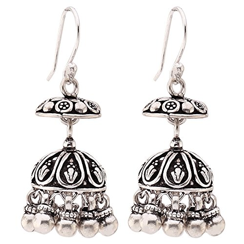 Ada Handcrafted Jewellery Sterling 925 Silver Jhumki Earring For Women SE1228.17