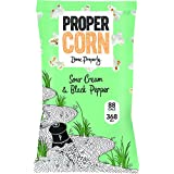 Propercorn Sour Cream and Black Pepper Popcorn 20 g (Pack of 24)