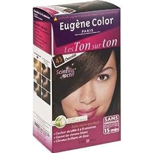 Eugène Color - Les Ton Sur Ton - N°43 Chocolat - Coloration sans Ammoniaque - Lot de 2