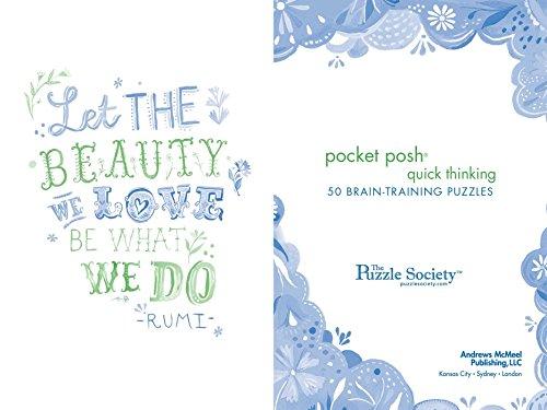 Pocket Posh Quick Thinking: 50 Brain-Training Puzzles