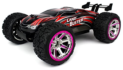 Velocity Toys Land Buster Remote Control RC Truggy Big Size 1:12 Scale Off Road 15+ MPH 4 Wheel Drive w/ Independent Suspension (Colors May Vary)