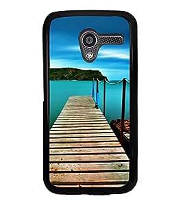 Wooden Sea Bridge 2D Hard Polycarbonate Designer Back Case Cover for Motorola Moto X :: Motorola Moto XT1052 XT1058 XT1053 XT1056 XT1060 XT1055