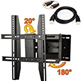 ATC Down / Forward: 20 degrees,Right / Left: 180 degrees LCD LED Plasma Flat Tilt Arm TV Wall Mount For Panasonic 14'' 17'' 19'' 20'' 40'',VESA up to 400mm X400mm with 6ft HDMI Cable