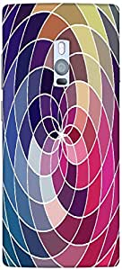 Timpax Protective Hard Back Case Cover With Easy access to all ports Printed Design : Colourful Pattern.100% Compatible with ONE PLUS Two ( 1+2 )