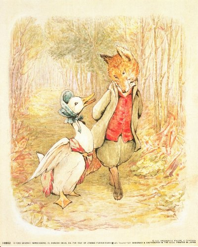 The Tale Of Jemima Puddle Duck Beatrix Potter Kids Room Art Print Poster (16X20)