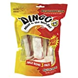 DINGO LARGE WHITE 3 PK VALUE BAG