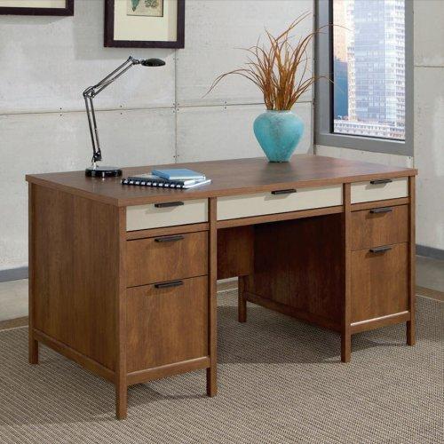 "picture of Kersley Two Pedestal Desk 59 06""W Sauder"