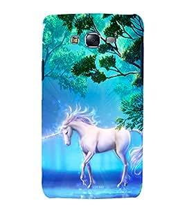 printtech Fantasy Unicorn Jungle Back Case Cover for Samsung Galaxy Grand Prime G530h