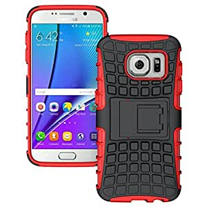 Samsung Galaxy S7 - Stylish Heavy Duty Hard Back Armor Shock Proof Case Cover with Back Stand Feature & Free Screen Protector by Accessories Collection