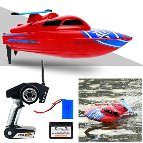 Perman WL911 RC Boat 4CH 2.4G 24km/h Racing RTF Waterproof Remote Control Electric Boat Boy's Toys Red