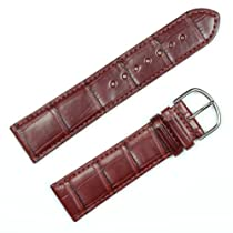 Genuine Alligator Watchband Brown 22mm Watch band by deBeer