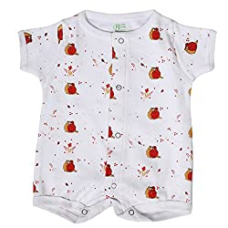 BACHHA ESSENTIAL Baby Full Romper(1002B_3months_Pink_3-6 months)