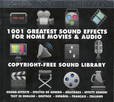Sound Effect Library-1001 Greatest Sound Effects For Home Movies And Audio-5CD-2015-SNOOK Download