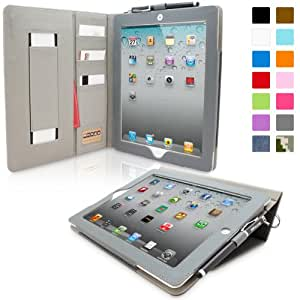 Snugg™ iPad 2 Case - Executive Smart Cover With Card Slots & Lifetime Guarantee (Blue Denim) for Apple iPad 2
