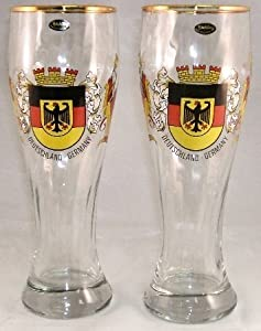 German Hefeweizen Wheat Beer Glasses, Set of 2 from Pinnacle Peak