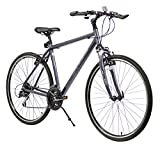 XDS Men's Cross 300 24-Speed Hybrid Bike, 46cm, Grey