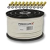 100m PremiumX PROFI Koaxial Kabel 130 dB 4-Fach geschirmt