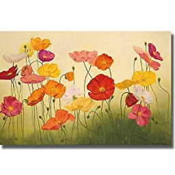 Sunlit Poppies by Janelle Kroner Premium Oversize Gallery-Wrapped Canvas Giclee Art (Ready-to-Hang)
