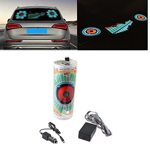 Kevindeal(Tm) 90X25Cm Car Auto Music Beat Rhythm Led Glow Lights Lamp Sound Activated Equalizer Sticker