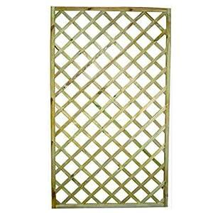 Pannelli grigliati rettangolari 4pz cm 100x180 h in legno - Pannelli divisori giardino ...