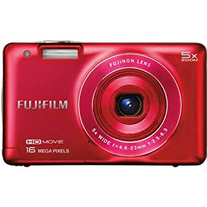 Fujifilm FinePix JX680 16 MP Digital Camera with 3-Inch LCD (Red)