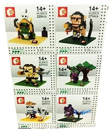 World Of Warcraft Movie Building Blocks Toy Micro Nanoblock 3d diy Figures Lot 6 Sets Model Kits Party Supplies Gift with Original Box (Angkor Wat Model compare prices)