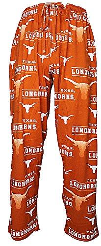 NCAA Texas Longhorns Mens Orange Fusion Pajama Pants by