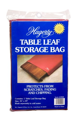 Hagerty 19920 35-By-59-Inch Table Leaf Storage Bag, Burgundy back-576890