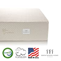 Brentwood Home 13-Inch Gel HD Memory Foam Mattress, Made in USA, CertiPUR-US, 25 Year Warranty, Natural Wool Sleep Surface and Bamboo Cover