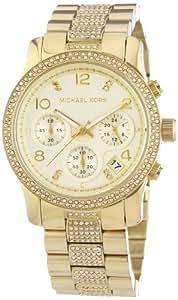 Michael Kors Damen-Armbanduhr Chronograph Quarz Edelstahl MK5826