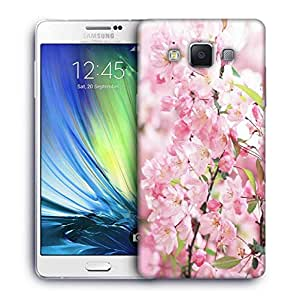 Snoogg White Small Flower Printed Protective Phone Back Case Cover For Samsung Galaxy A7