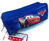 Blue Disney Pixar Cars Double Zippered Pencil Pouch