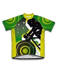 Green Lanter Biker Short Sleeve Cycling Jersey for Women